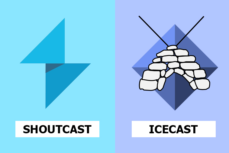 Differences between Shoutcast and Icecast 2